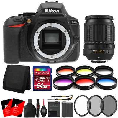 Nikon D5600 24.2MP DSLR Camera with 18-140mm VR DX AF-S Lens and 64GB Kit