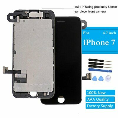 For iPhone 7 LCD Screen Black Replacement Display Touch Digitizer Earpiece Camer
