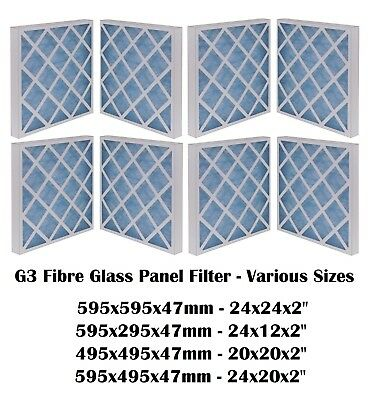 G3 PANEL FILTER SPRAY BOOTH Fibreglass Panel Filter - Various Sizes