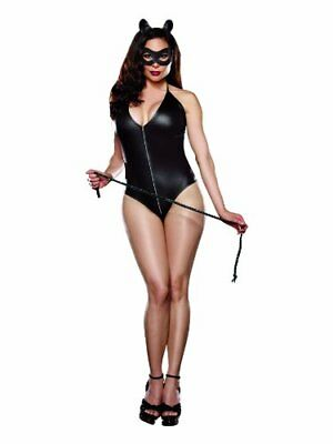 Dreamgirl Costume Catwoman Pour Femme avec Masque/Serre tête/Fouet Taille