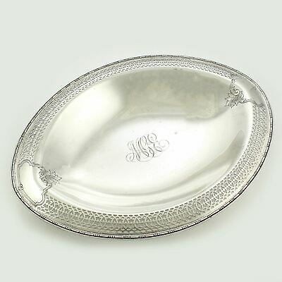 "Vintage GORHAM STERLING Silver Bread Tray 542.9g Reticulated 12"" A8879 Not Scrap"