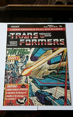 Transformers Comic #7 Marvel UK 1st appearance SHOCKWAVE High Grade / NM RARE