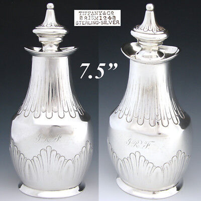 """Antique Tiffany & Co. Sterling Silver 7.5"""" Tea Caddy or Decanter, c. 1873-1891"""
