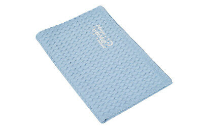 New Blue Baby Waffle Blanket - Woven Combed Cotton / First Blanket - Ideal Gift