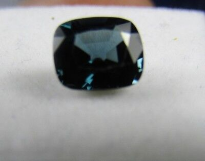 GFCO Certified 1.46ct Cushion Cut Greenish Blue Eye Clean Spinel.