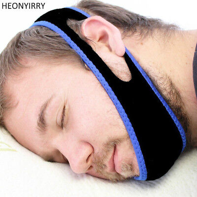 Anti Snore Aid Sleep Apnea Stop Snoring Strap Belt Jaw Solution Chin Support Set