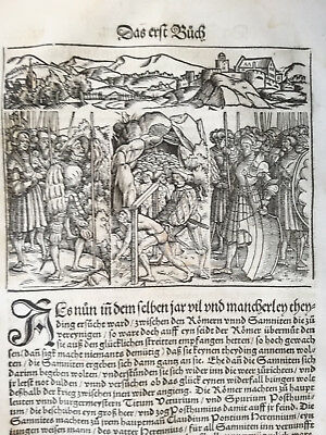 Livius History of Rome Post Incunable Woodcut Schoeffer (81) - 1530
