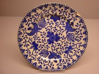 Japanese antique Blue and White Phoenix Bird and Flowers plate