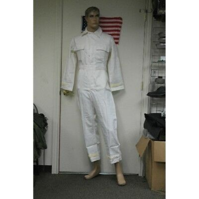 Vintage Mens Coverall, White G.I., size SL and SS