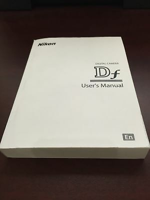 Nikon Df Digital Camera User's Manual Guide Book Brand New. Never Used