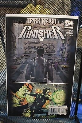 The Punisher #2 2nd Print Dark Reign Variant Marvel Comics Rick Remender