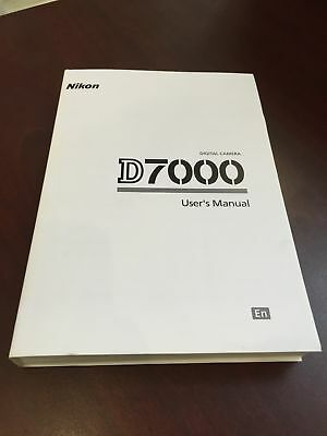 Nikon D7000 Digital Camera User's Manual Guide Book Brand New. Never Used