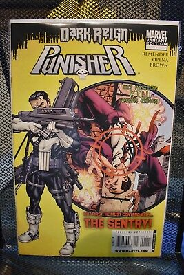 The Punisher #1 Mike McKone Dark Reign Variant Marvel Comics Rick Remender