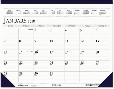 House Of Doolittle Recycled Two-Color Monthly Desk Pad Calendar, 22 X 17, 2018
