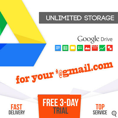 ✪ GOOGLE DRIVE UNLIMITED CLOUD STORAGE | 30Days Subscription | 3-Day FREE Trial✔