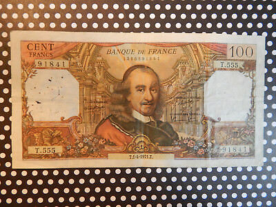 1971  France 100 Francs French note - Corneille