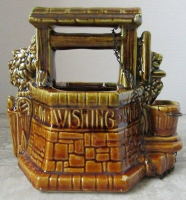Old Vintage McCoy Pottery Wishing Well Planter