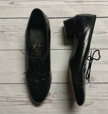 Tic Tac Toes Black Lace-Up Womens Dancing Shoes 7.5M