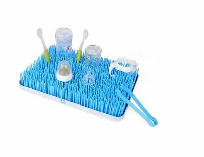 Countertop Drying Rack Grass Baby Bottle Dry Mat Large Blue