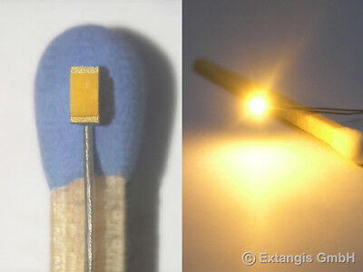 30x SMD LED 0603 Super Golden White Weiss +Microlitze our most warm white colour