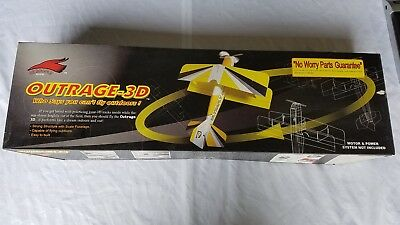 "Ultrafly Outrage 3D 28.3"" WS RC Biplane"