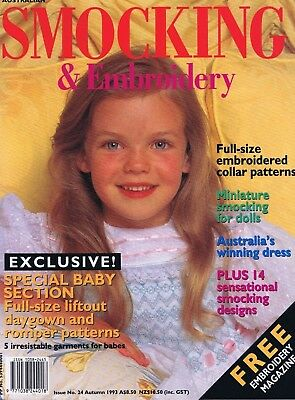 Australian SMOCKING & EMBROIDERY MAGAZINE ISSUE NO 24 Girls Baby Sewing Patterns