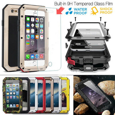 Waterproof Shockproof Aluminum Gorilla Glass Metal Case Cover For iPhone Xs Max