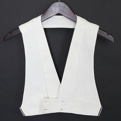 1920's VTG boy's double-breasted cotton pique open back formal waistcoat ~30