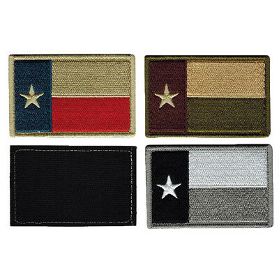 Texas Tx State Flag Usa Army Morale Tactical Military Badge Swat Hook Patch