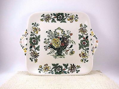 """Masons 11"""" Cake Serving Plate STRATHMORE VGUC Cookie Snack Vintage Ironstone"""