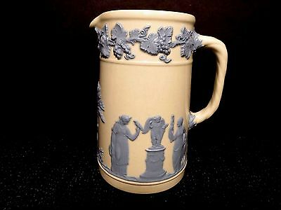 """Pitcher Wedgwood Jug 4.75"""" EUC Queens Ware Embossed Vintage Earthenware China"""