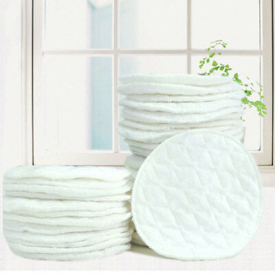 2PCS Washable Nursing Pad Reused Breast Feeding Pads Spill Prevention White