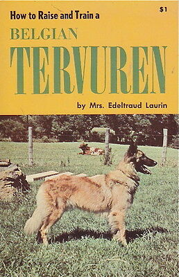 Belgian Tervuren Vintage Book   How To Raise And Train