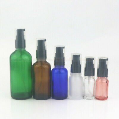 5ml ~ 100ml Glass Bottles Jarswith Cream Gel/ Serum Pump, DIY Gels, Liquid soap
