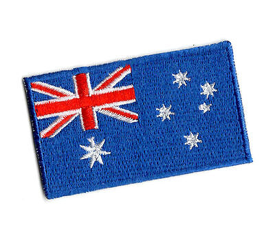AUSTRALIA FLAG Iron on / Sew on Patch Embroidered Badge Australian Aussie PT66