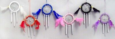 Native Pride Dream Catchers With Wind Chimes 6Pc Lot (NPDC74 ^*)