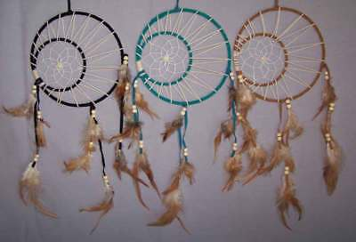Hand Made Dream Catchers 2 Circles 6Pc Lot (NPDC248 ^*)