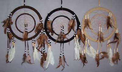 "Hand Made Dream Catchers 2 Circles Diameters: 8.5"" & 5"" 6Pc Lot (NPDC247 ^*)"