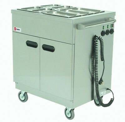 Parry 1887 Mobile Servery with Bain Marie Top & Gastro Pans (Boxed New)