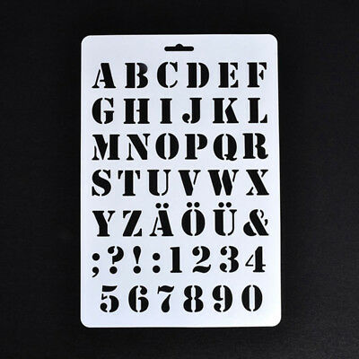 Lettering Stencils,Letter and Number Stencil,Painting Paper Craft Alphabet  G4I6