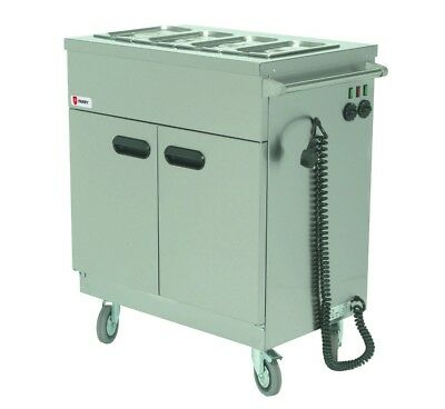Parry 1894 Mobile Servery with Bain Marie Top & Gastro Pans (Boxed New)