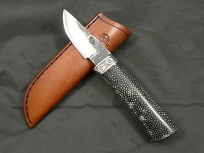 Couteau artisanal CITADEL Nordic Version Luxe GALUCHAT - Lame forgée main knife