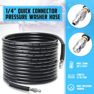 1/4'' Quick Connector 6/10/15M High Pressure Drain Sewer Cleaning Hose 5800PSI
