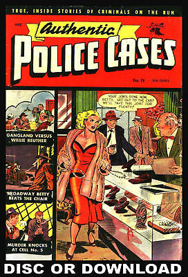 ☆ POLICE, CRIME, DETECTIVE ☆ GOLDEN AGE COMICS ☆ Complete Scans Vol.1 Disc ☆
