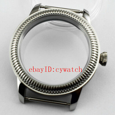 44mm 316L Steel Wrist Watch Case Fit ETA6497/6498 Seagull ST3600/3620 Movement