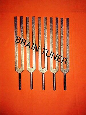 Brain Tuning forks 5pc set for healing +Activator+velvet pouch