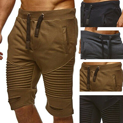 Mens Flat Front Cargo Shorts Lounge Casual Pockets Belt Comfortable Sizes M-2XL