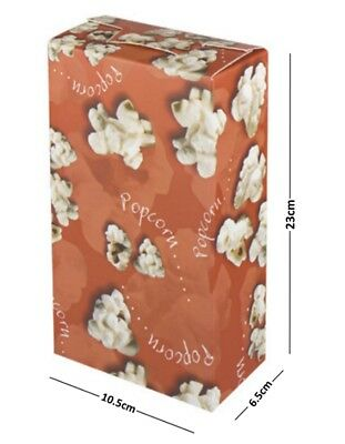 Popcorn Red Disposable Boxes - Party Tub Paper Serving Box - Cinema Movie Night