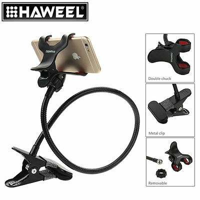 HAWEEL Flexible Long Arm Cell Phone Holder Lazy Brack With Clamping Base