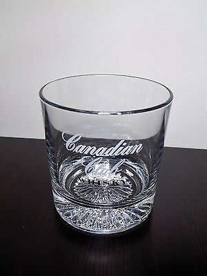Vintage Canadian Club Whisky (Whiskey) Rock Glass With Starburst Cut Bottom